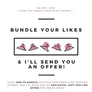 Bundle your likes for a private offer!!